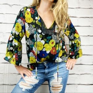 {Violet & Claire} bell sleeve boho blouse